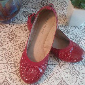 Bandolino Red Patent Ballet Flats | Size 8